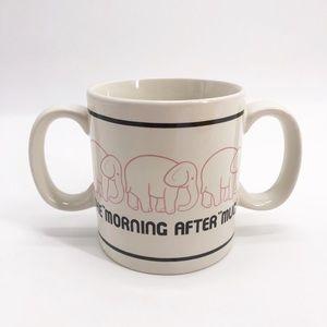 Morning After Elephant Double Handle Mug